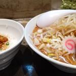 麺屋大斗 - 特製たっぷり野菜味玉らーめん_辛肉味噌ミニ丼