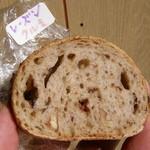 サンタハウス - 試食用の「レーズンクルミ」パンを頂きました~・・・もちろん無料!