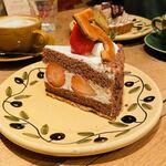 ア・ラ・カンパーニュ - もぉにゃんの頼んだケーキ クッキーの数字は選べるみたい