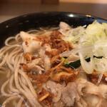 名代 富士そば - #食べログ的に撮るとこうなる。圧倒的な胡椒の存在と極悪なニンニクチップ。コレジャナイ感満載!