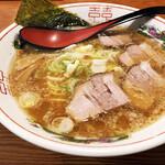 豚吉 - こってりしょうゆラーメン 半焼めしセット 990円('19.11月上旬)