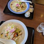 リンガーハット - 『長崎ちゃんぽん(麺1.5倍増量無料)+薄皮ぎょうざ5個付きランチ』 690円+tax