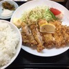 ラーメン ジャンボ餃子 天神 - 料理写真:チキンカツ定食セット990円