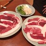 121435162 - 猪鍋のお肉(コース)
