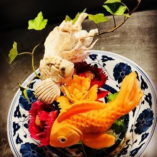 目を惹く華やかな野菜彫刻は誕生日や特別な日におすすめ!