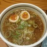麺 一直 - スープ(醤油・味玉トッピング)