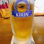 和の中 - ハートランド樽詰め生ビール 中ジョッキ 480円
