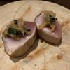 快食 ようすけ - 料理写真:マナ鰹 ニラ味噌のせ