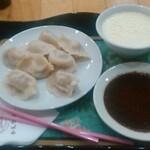 Gojoujintousuiho - セロリ入り水餃子と中華風ミルクプリン