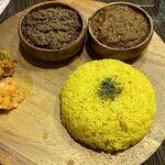 マサラ食堂 - 「2種盛り」(チキン×キーマ)