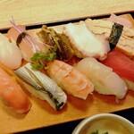 宝寿司 - にぎり10貫(950円)