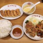 大阪王将 - Aランチ+餃子で945円