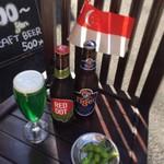 """ケニーアジア - 緑がまぶしい""""モンスターグリーン""""、生タイガービール。ミナミでここだけのSGビール入荷"""