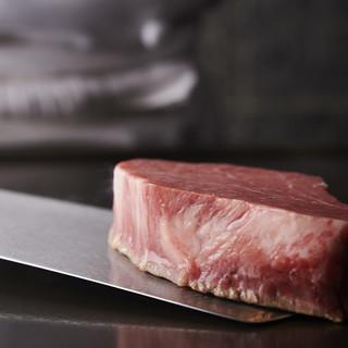 ◆神戸ビーフ指定登録店◆凝縮された本物の味わいを鉄板焼きで