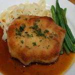 ラ ペッシュ - 鶏胸肉のハムはさみ揚げ
