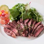 サンバ ジ セレイア - フラウジーニャ 牛ハラミのステーキ230g 1,850円(税別)