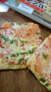 シャトレーゼ - 糖質83%カットのピザ マルゲリータ 焼いた後