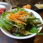 焼肉トザワ - ランチサラダ