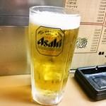 梅田丸一屋 - ビールはスーパードライ