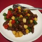 四五六菜館 - 牛肉のオイスターソース炒め