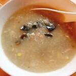 台湾手作り 天香 - ピータン粥①