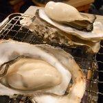 魚河岸酒場 駅前 浜けん - 牡蠣の浜焼き