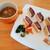 グリル梵 - ビーフへレカツサンド(ハーフ)、特製野菜スープ付き税込み1,000円
