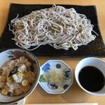 酒彩蕎麦 初代 - 料理写真:板そばと牡蠣と銀杏の炊込みご飯