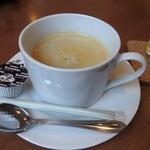 満ぷく処 くぅ - セットのホットコーヒー