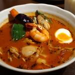 sapporosu-pukare-semmontenesupa-itou - エスパーの海・オリジナルスープ・辛さ3番(接写)