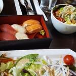 121535687 - お寿司やサラダも美味しい