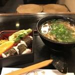 Inakasobamiyuki - ぼっかけそばの定食をいただきました(2019.12.12)
