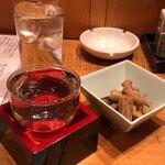 笹吟 - 田酒+お通し+和み水