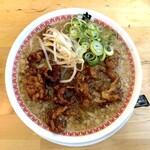 肉汁麺ススム - 肉汁麺レベル1(130g)800円+背脂マシマシ(100円)
