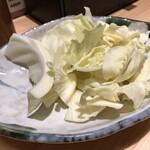 博多かわ屋 - つきだし(キャベツ) 400円