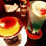 御多福珈琲 - 喫茶店のプリンとクリームソーダ