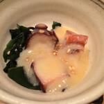 おでん 和食 銀座おぐ羅 - お通し:蛸の酢味噌和え