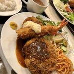 キッチンスズキ - 料理写真:メンチカツ+エビフライ+カニクリームコロッケ