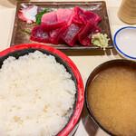 おやじ - ミックス定食 酢飯 大盛 大盛 (=頭でっかち・酢飯大盛) 1,100円