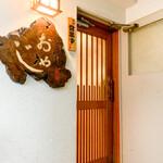 おやじ - 店舗入り口(階段を上った所)