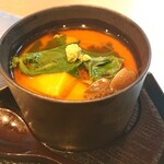 割烹 いま村 - 煮物→鱈白子の茶碗蒸し