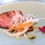 割烹 いま村 - 赤牛のローストビーフ