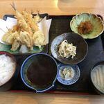 白木屋早田 - キス天ぷら定食