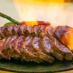 やっぱり肉が好き - USA最高グレードプライム 肩ロースポンドステーキ_炎