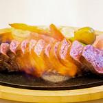 やっぱり肉が好き - USA最高グレードプライム 炎のリブロースステーキ_炎