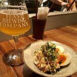 Far Yeast Tokyo Craft Beer & Bao - ・馨和ブラン キュベ ドライホッピング M 1,200円 ・ポテトサラダ & とろ玉 500円