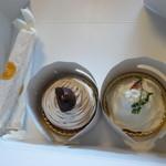 スイーツハウス 天使のおやつ - モンブランとレアチーズケーキ