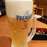 121620542 - 生ビール プレミアムモルツ550円はキンキン!