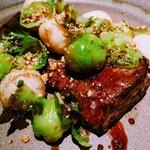 aoni - 牛ハラミ肉のステーキ 長芋のフリット
