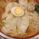 広州市場 - 二種盛りワンタン麺。あっさり。